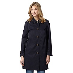 The Collection - Navy cocoon mac coat
