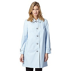 The Collection - Light blue cocoon mac coat