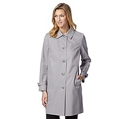 The Collection - Pale grey cocoon mac coat