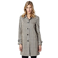 The Collection - Natural oval printed mac coat