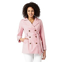 The Collection Petite - Petite pale pink short trench mac