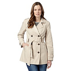 The Collection Petite - Petite natural short trench mac