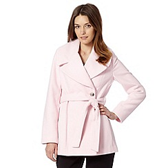 The Collection - Pale pink oversized shawl collar coat