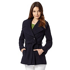 The Collection - Navy oversized shawl collar coat