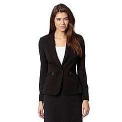 The Collection Petite - Petite black zip pocket jacket