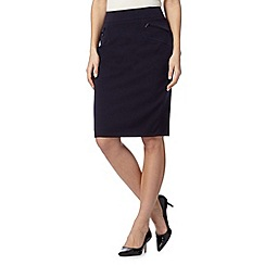 The Collection - Navy zip pocket work skirt