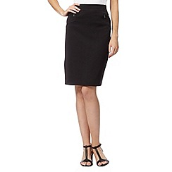The Collection Petite - Petite black zip pocket skirt