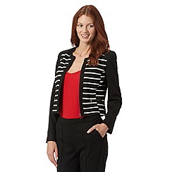 The Collection - Black striped ponte jacket