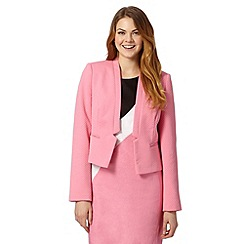 The Collection Petite - Petite pink jacquard circles jacket