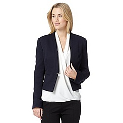 The Collection Petite - Petite navy jacquard circles jacket