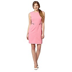 The Collection - Pink jacquard circle zip dress