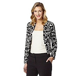 The Collection - Black floral crepe jacket
