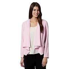 The Collection Petite - Petite pale pink crepe waterfall jacket