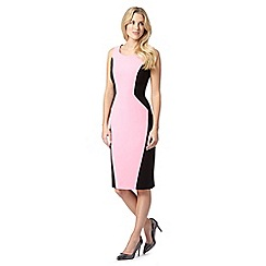 The Collection - Pink diamond colour block dress