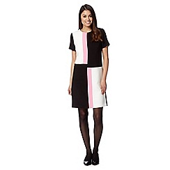 The Collection Petite - Petite black square colour block dress