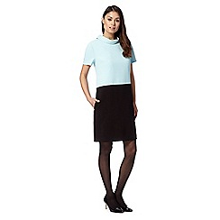 The Collection Petite - Petite light blue roll neck crepe dress