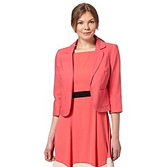 The Collection - Coral linen blend blazer