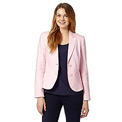 The Collection - Pastel pink textured linen jacket