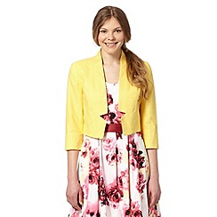 The Collection - Yellow linen blend bolero jacket