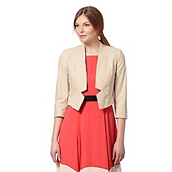 The Collection - Natural linen blend bolero jacket