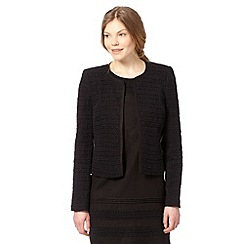The Collection - Black linen blend broderie jacket
