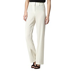 The Collection Petite - Petite designer ivory bootcut trousers