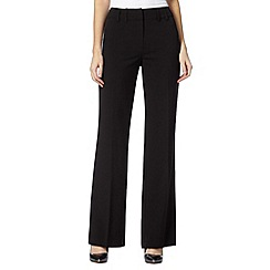 The Collection Petite - Petite black bootcut trousers