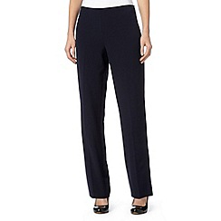 The Collection Petite - Petite navy straight leg trousers