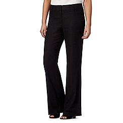 The Collection Petite - Petite black linen blend trousers