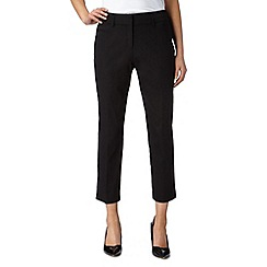 The Collection Petite - Petite black cropped smart trousers