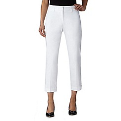 The Collection Petite - Petite white cropped smart trouser