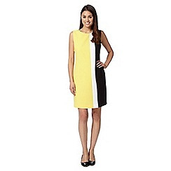 The Collection - Yellow colour block shift dress