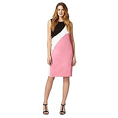 The Collection - Pink colour block shift dress