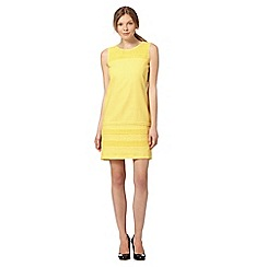 The Collection - Pale yellow broderie dress