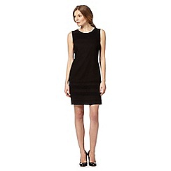 The Collection - Black linen blend broderie dress