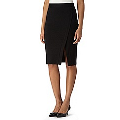 The Collection - Black tailored ponte skirt