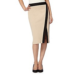 The Collection - Camel tailored ponte skirt