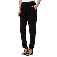 The Collection Petite - Petite black soft plain trousers