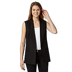 The Collection - Black sleeveless linen jacket