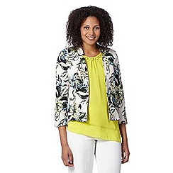 The Collection Petite - Petite turquoise tropical print blazer