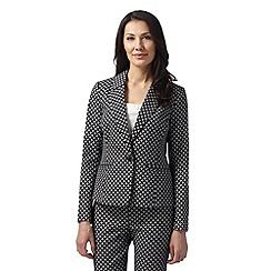 The Collection - Black mosaic print blazer