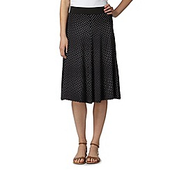 The Collection - Black spotty flared skirt
