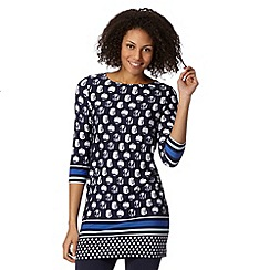 The Collection Petite - Petite navy spotted block tunic top