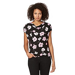 The Collection Petite - Petite pink floral print jersey top
