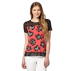 The Collection - Coral floral jersey top