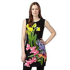 The Collection - Black spring floral tunic
