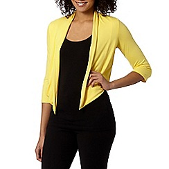 The Collection Petite - Petite yellow jersey cardigan