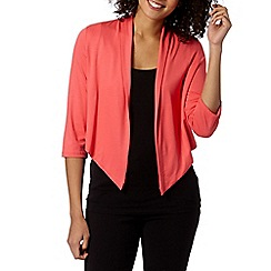 The Collection - Coral jersey cardigan