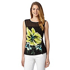 The Collection - Black tiger lily jersey top