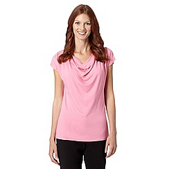 The Collection - Pink plain cowl neck top